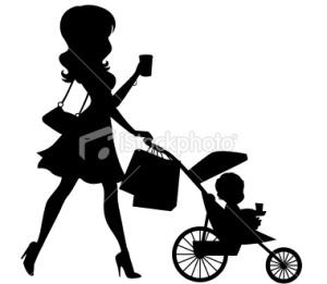 stock-illustration-22478841-mom-walking-baby-in-stroller-silhouette