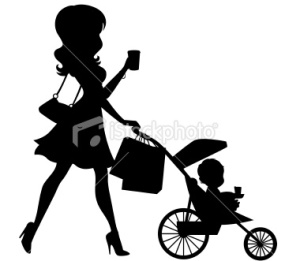 stock-illustration-22478841-mom-walking-baby-in-stroller-silhouette