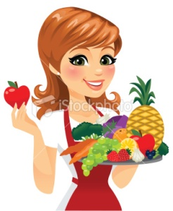 stock-illustration-26360195-woman-eating-healthy-food