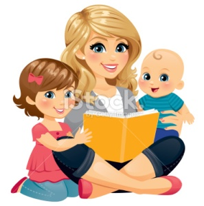 stock-illustration-34334468-mom-reading-with-children