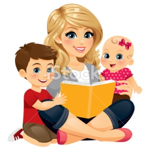 stock-illustration-34386312-mom-reading-with-children-2