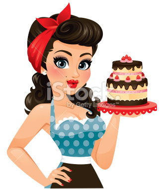 Sweet Sugar Pin Up Girl Birthday Cakes With Name Edit For Facebook