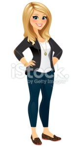 stock-illustration-41146098-pretty-blond-woman-in-classy-casual-clothing