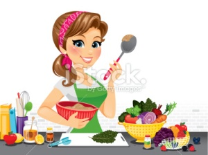 stock-illustration-57636384-girl-in-kitchen